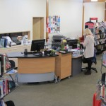 Height adjustable GLO 1600 teamed with our BOOKFLO CASH Mobile at Blueskin Bay Library.