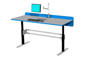 Our BOOKFLO RETURNS Processing Workstation can be made to length to fit your space.