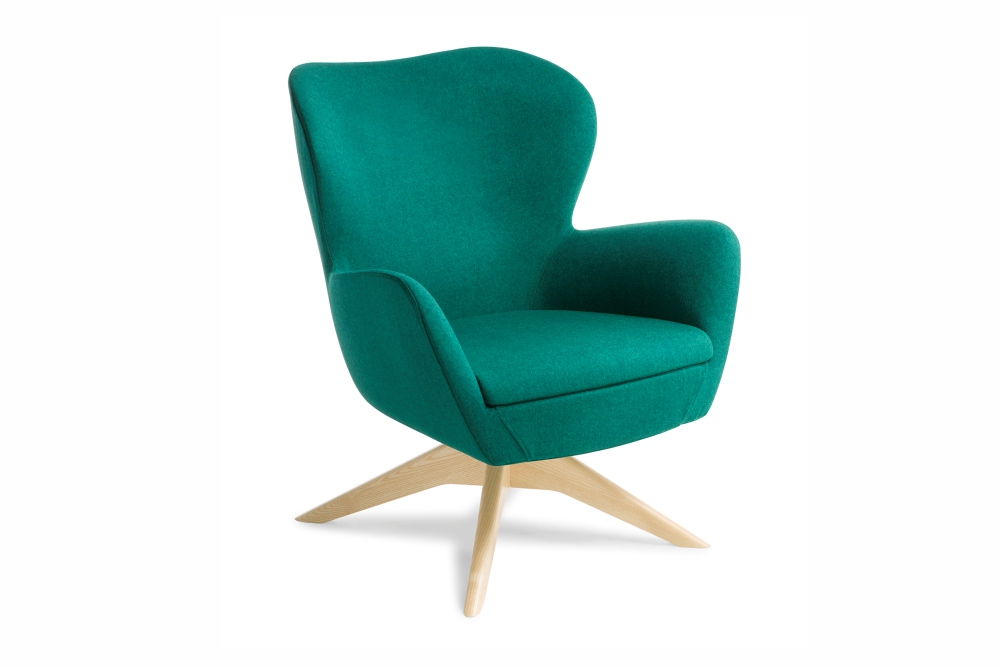 ABBEY Chair — a generous and comfortable retro-style chair.