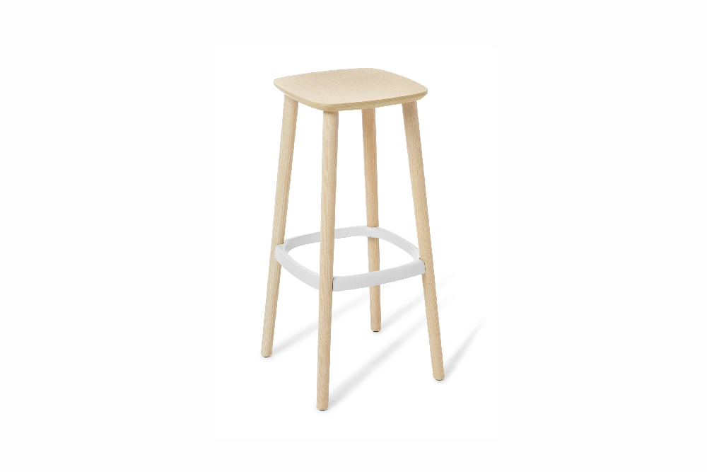 NOMA Stool in Bleached Ash timber.