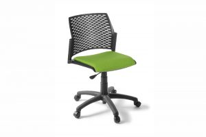 PUNCH Chair with 5 Star Swivel base, gaslift height adjustment and upholstered seat.