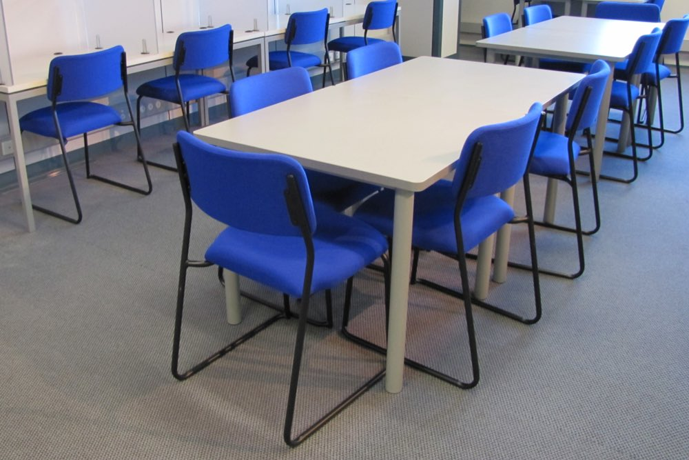 T1 RECTANGULAR Tables (standard option) at UNITECH Albany.
