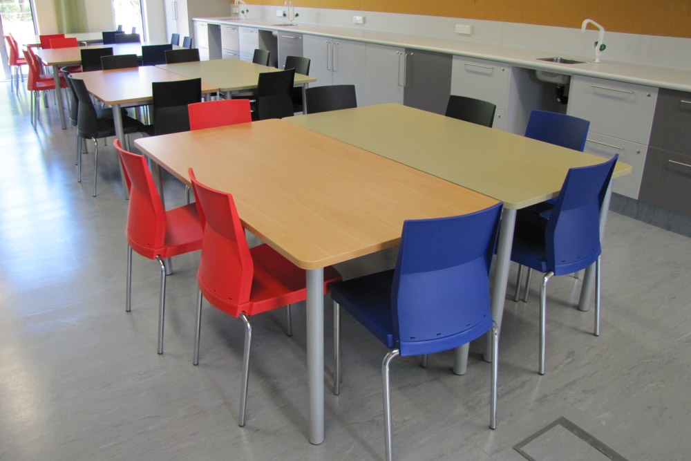 T1 RECTANGULAR Tables (standard option) at MIT Otara.