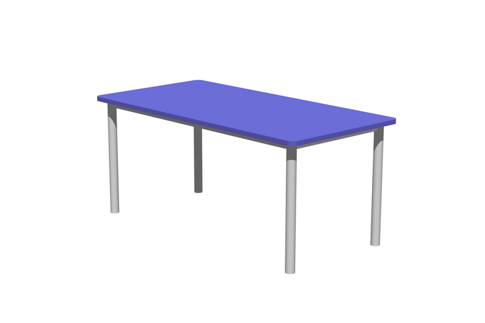 T1 RECTANGULAR Table standard option (without brake castors).