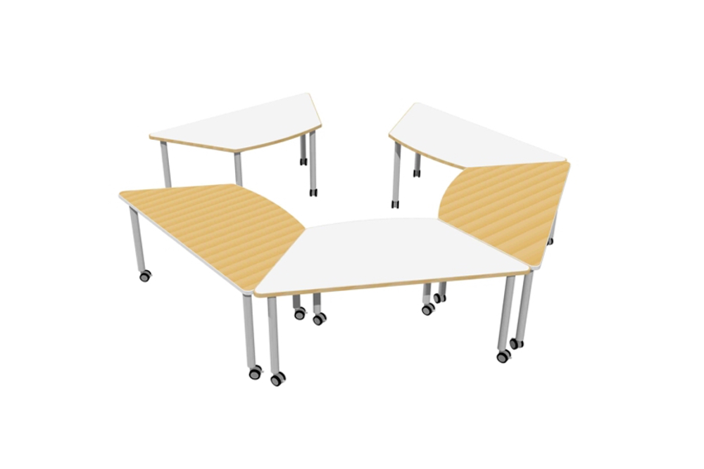 T2 TRAINING Tables are easily moved about, and deployed singularly or nested together.
