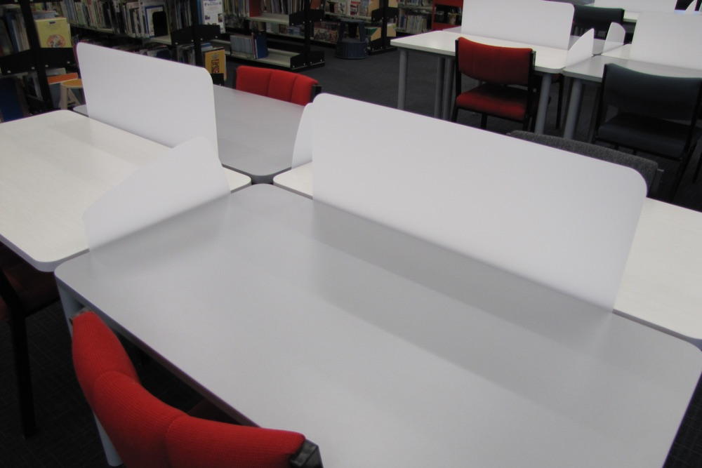 Socrates FLICK Study Stations showing detail of the FLICK Back and Side Screens at Massey University.