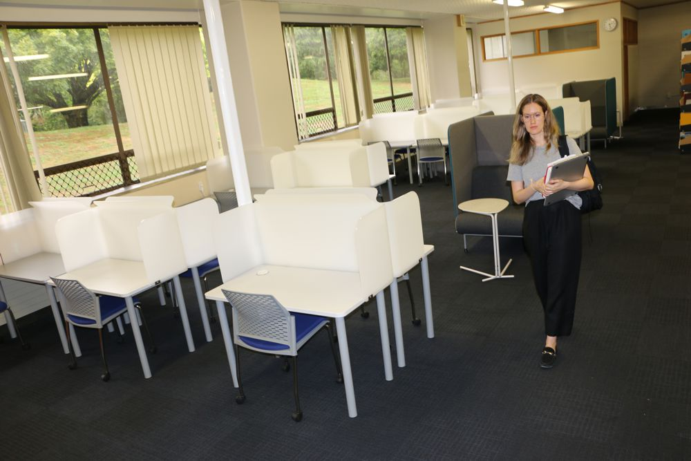 Socrates FOCUS Study Stations provide a private space for focused study, at Massey University, Palmerston North.