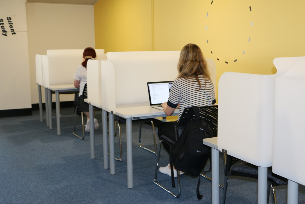 SOCRATES Focus Study Stations define private space at Massey University, Wellington.