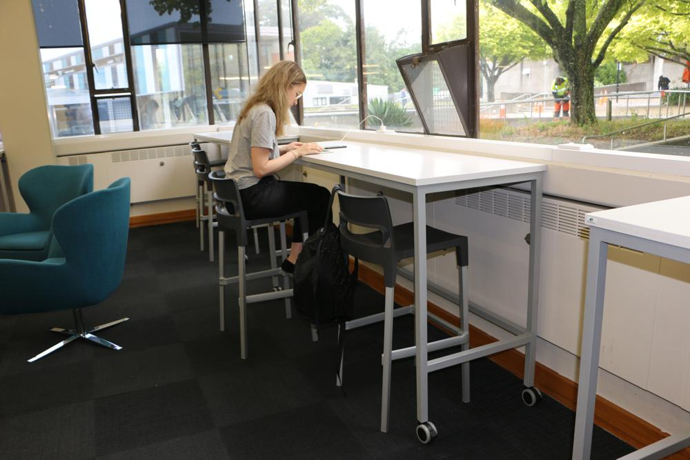 BENCH Basic Tables teamed with DIVO Stools, at Massey University.