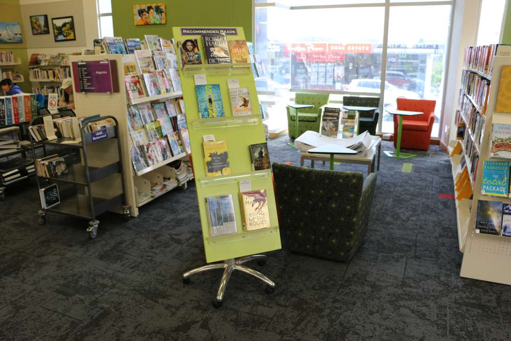 WOW BEST SELLER Stand with the five star base castor option, at Blockhouse Bay Library