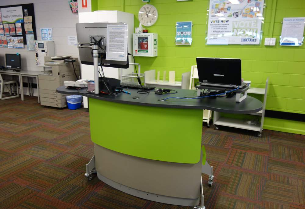 GLO 2000 Double Oval service point at Karama Library.