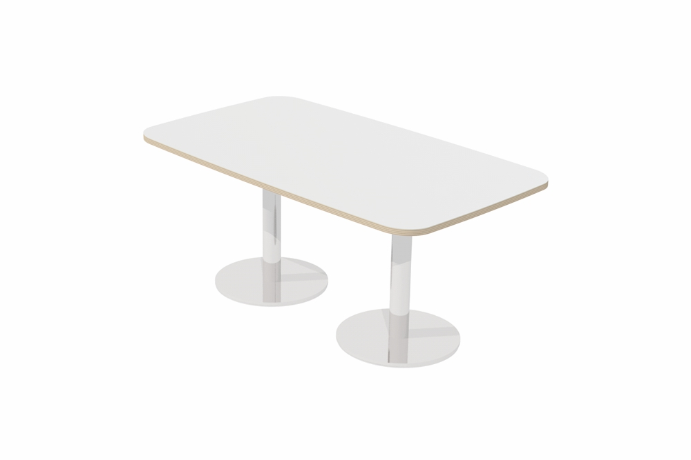 T7 RECTANGULAR Soft Form Table /Twin Pedestal base.