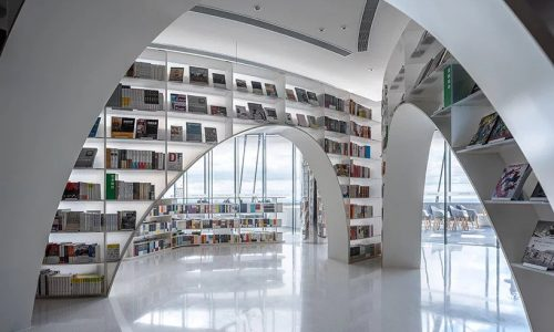 'Books above clouds' bookstore